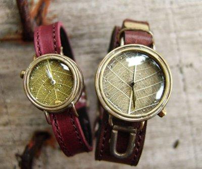 画像3: 一〇奏 黄色の葉脈時計♪