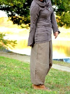 画像20: *Sale 40% OFF!!  ukA earth women Native pants - natural color  サルエルパンツ 3素材 3カラー (20)