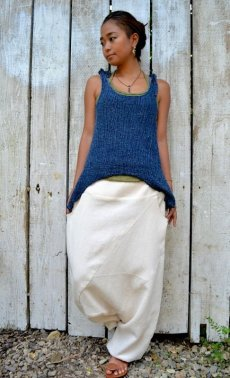 画像7: *Sale 40% OFF!!  ukA earth women Native pants - natural color  サルエルパンツ 3素材 3カラー (7)