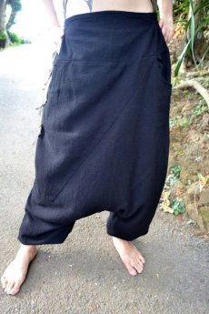 画像2: *Sale 40% OFF!!  ukA earth women Native pants - natural color  サルエルパンツ 3素材 3カラー (2)