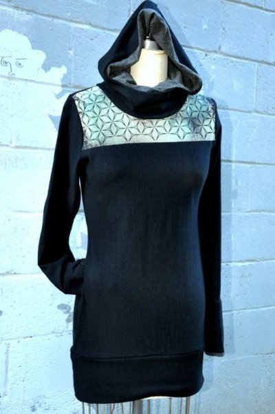 画像3: Sale 10% OFF!! Mod Dress, organic bamboo 2 sizes ☆Sea of Wolves☆