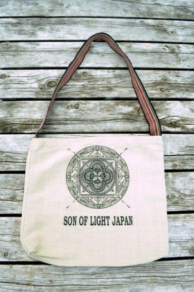 画像1: ラスト1!Sale 10%OFF! Redのみ son of light ヘンプハートランチバック