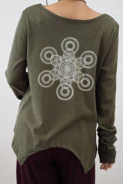 """画像1: *ボタニカル染めも入荷""""ゆるやか斜めカット!Organic cotton x Hemp ukA x TrishuL コラボTシャツ 4colors -ukA original-"""