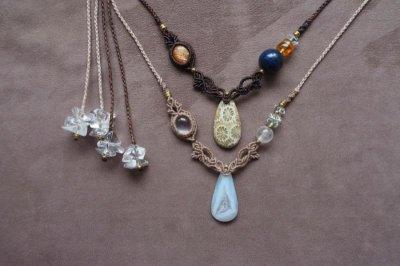 画像3: ヒマラヤ水晶&天然石 クレイペンダント STONES SPIRIT