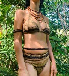 画像2: Sale 10% OFF!! 下着にも最適!organic cotton bikini set 2サイズ Primitive tribal craft♪ (2)