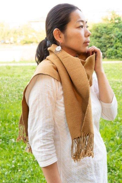 画像3: ホワイト&グレーラスト!手織りオーガニックコットン草木染めカッチストール3種類 NATSUMI-YA