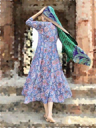 画像2: 手紡ぎ手織り♪ カディコットン 大判ブランケット