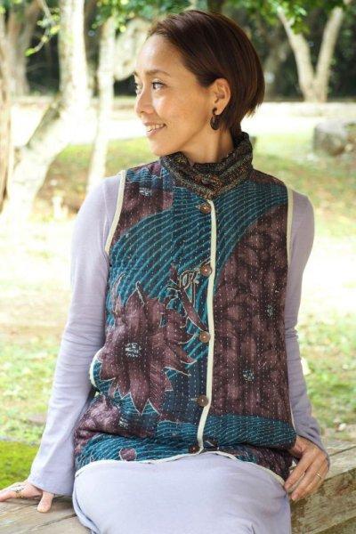 画像1: 手紡ぎ手織り♪ カディコットン 大判ブランケット
