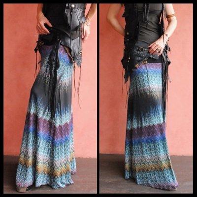 画像2: ND/W Long Skirt : Nouveau 2サイズ NOMAD WORLD [直送アイテム]