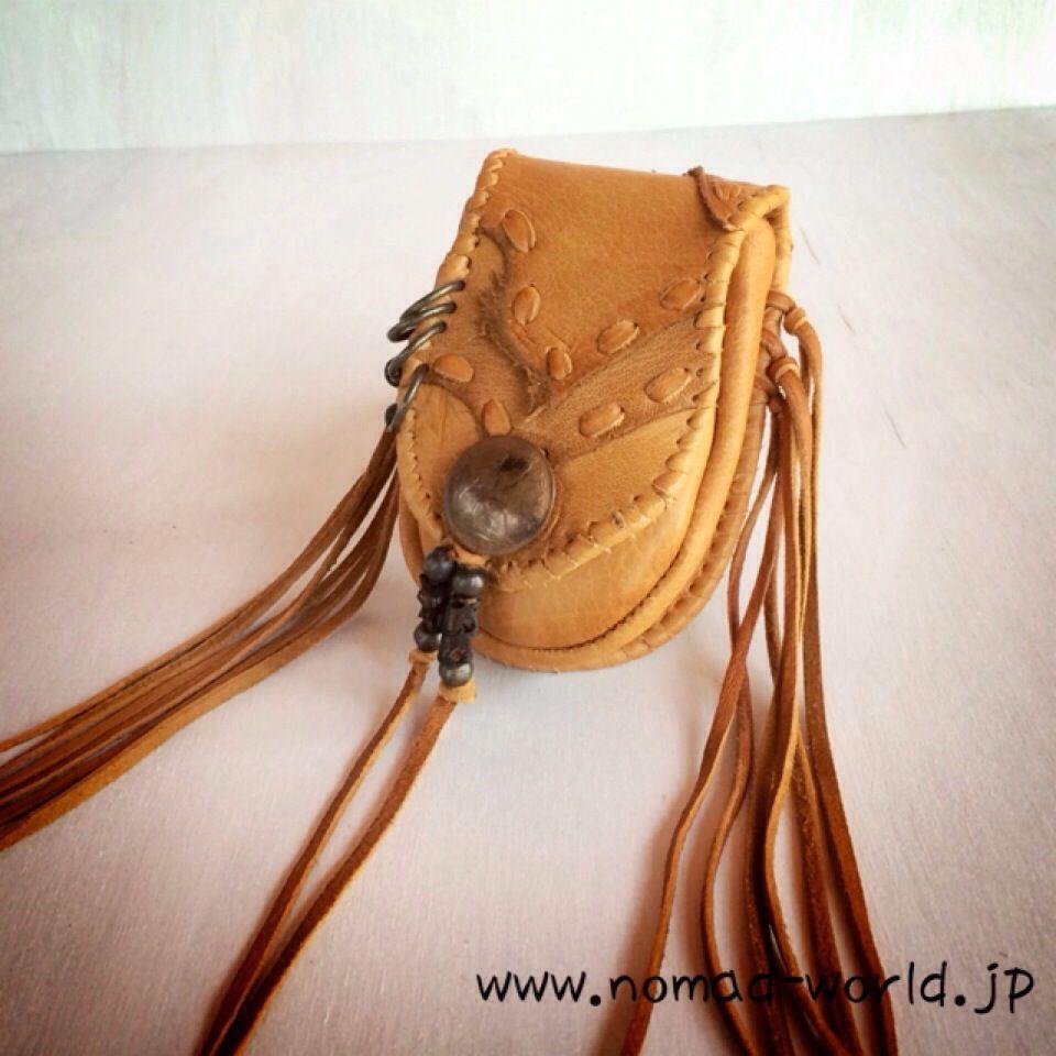 画像1: NOMAD Leather pouch  ハンドメイド (1)
