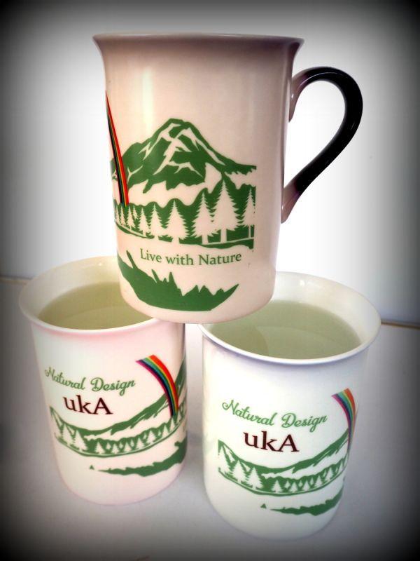 画像1: Sale 30% OFF!! ukA Mag Cup入荷!! Live with nature & ukA logo cup (1)