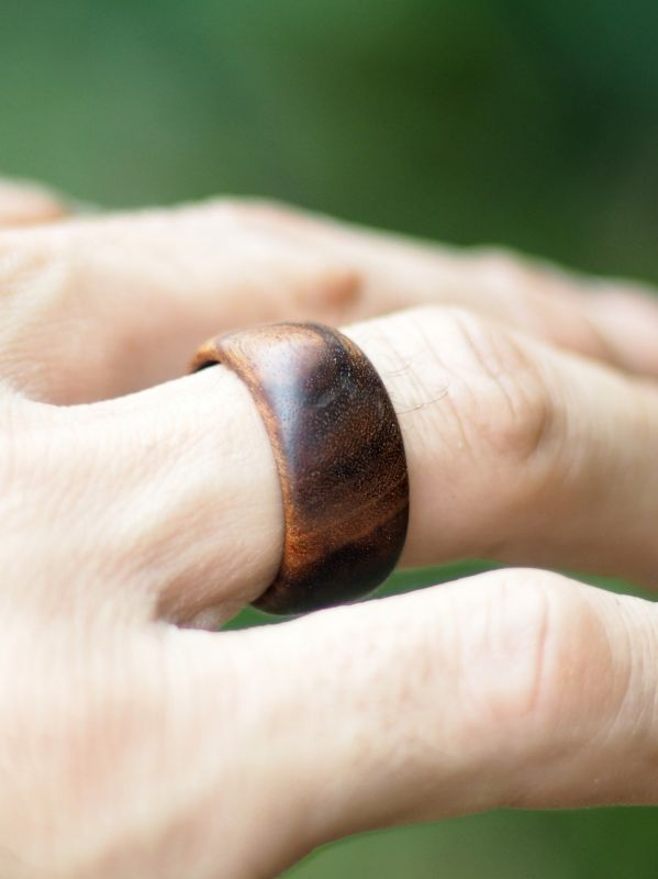 画像1: natural spirits 凜~Hand made 琉球wood ring ( Men's ) (1)
