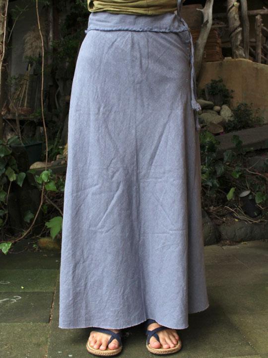 画像1: *Sale 40% OFF!! ブルーグレーのみ!ラスト1asana HEMP100% バイアススカート 4colors  Payaka (1)