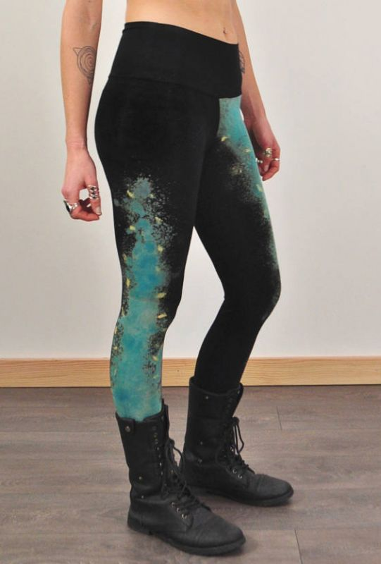 画像1: Galaxy Leggings/ Bamboo Jersey  2 size   ☆Sea of Wolves☆ (1)