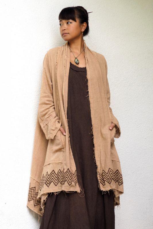 画像1: Sale 20% OFF!! ukA earth2018 ! tribal earth long sleeve cardigan 5 color (1)