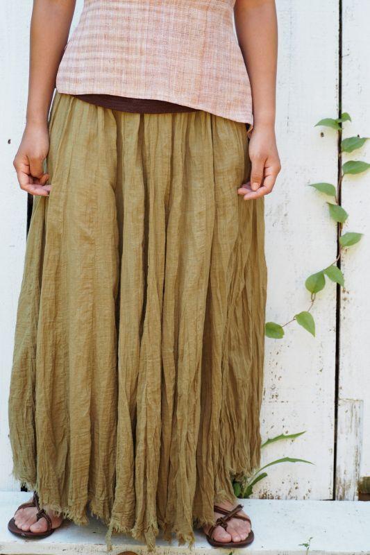 画像1: ライトリーフ ラスト!Sale 30% OFF!! cotton long sk  7 colors uyuaya (1)