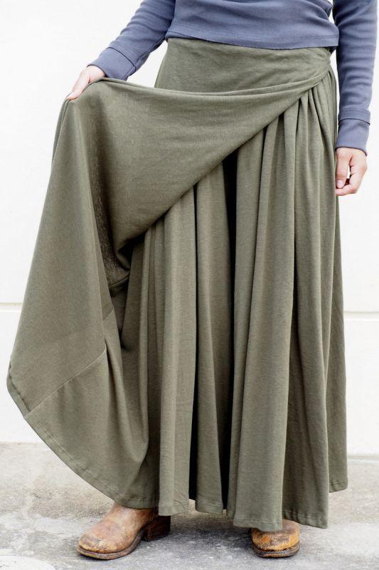 画像1: *Sale 10% OFF!! ボタニカル染めも!Organic Cotton×Hemp Wrap Pants 8カラー ukAオリジナル (1)