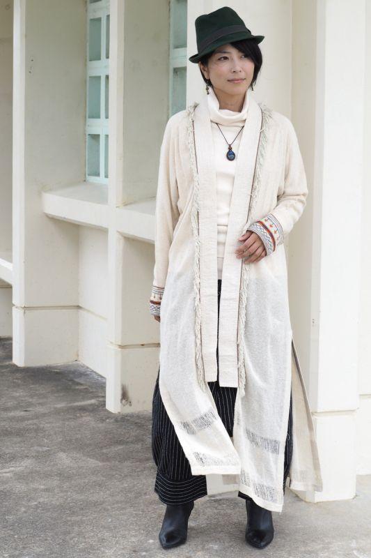 画像1: *Raw silk embroidery Cheyenne coat  2カラー The White raven (1)