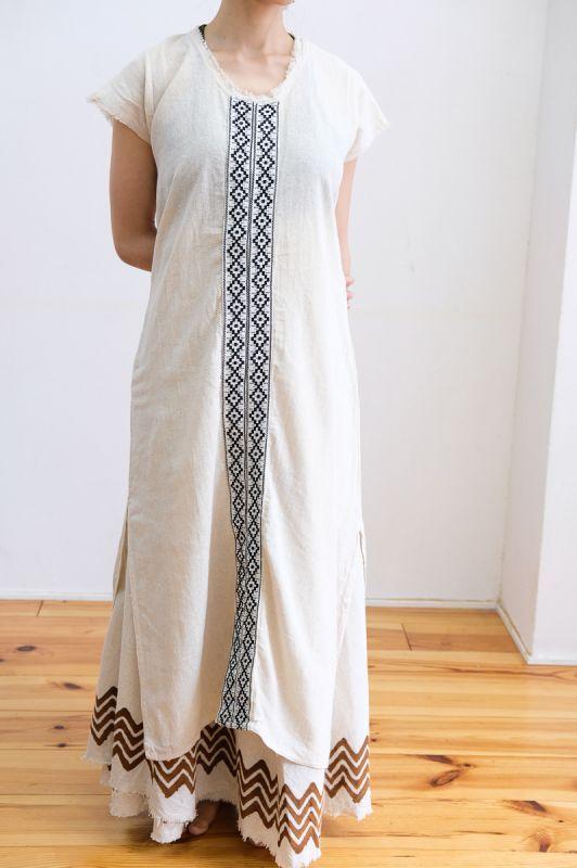 画像1: Cotton earth 刺繍 Dress ~ukA earth~ (1)