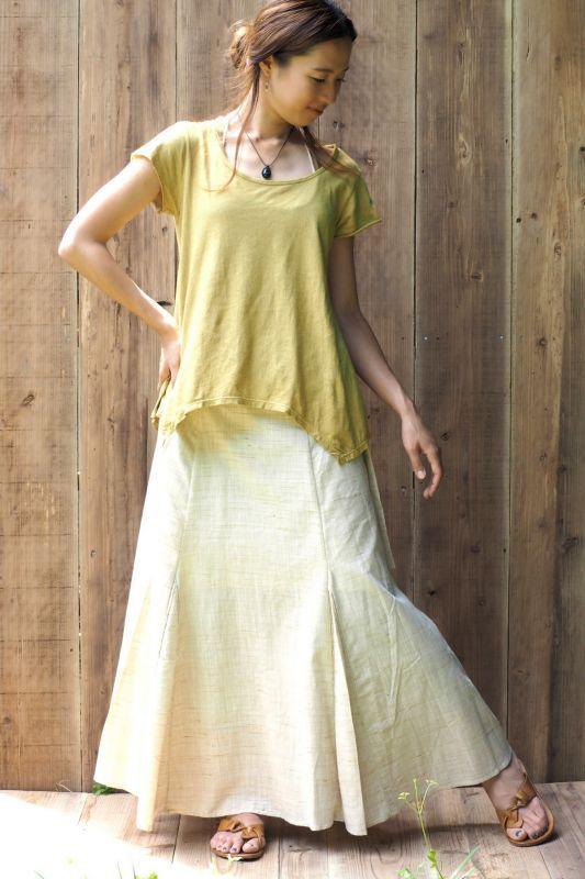 画像1: *Sale 20% OFF!! Original Khadi Skirt 5 colors ☆ukA eArth☆ (1)