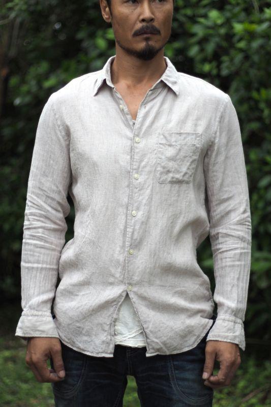 画像1: Sale 20% OFF!! Linen cotton  men's shirts 2カラー♪ (1)