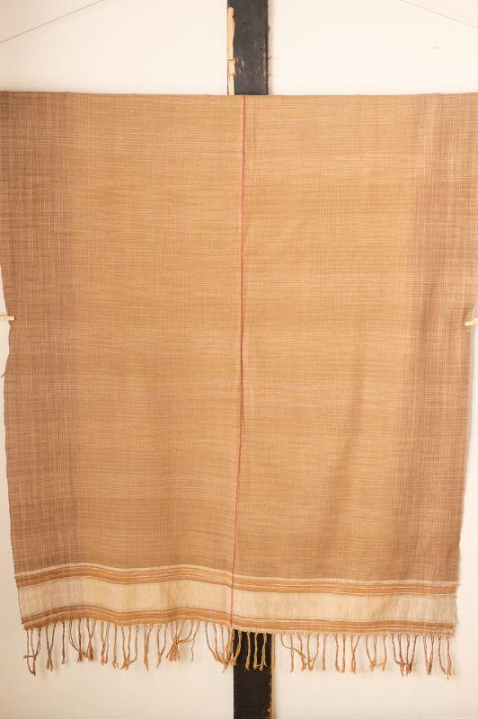 画像1: 1点ものSale 20%OFF!  手織り草木染ベッドカバー Ati (1)
