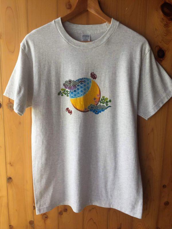 画像1: Sale 10%OFF! Men's 月満ちる Tシャツ あさひや♪ (1)