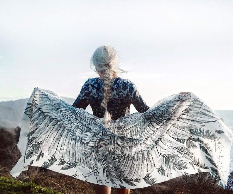 画像1: 大量入荷!5色!Wings scarf オーガニックコットン&シルクカシミヤ Shovava (1)