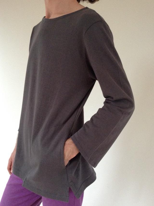 画像1: オーガニックヘンプコットン ユニセックスポケットTシャツ (吊天竺) 3カラー5サイズ Lunati canapa 〜受注オーダー〜 (1)