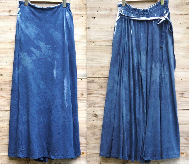 画像1: 新色も入荷!*エコ染めシリーズ organic cotton x Hemp Wrap Pants 2カラー (1)