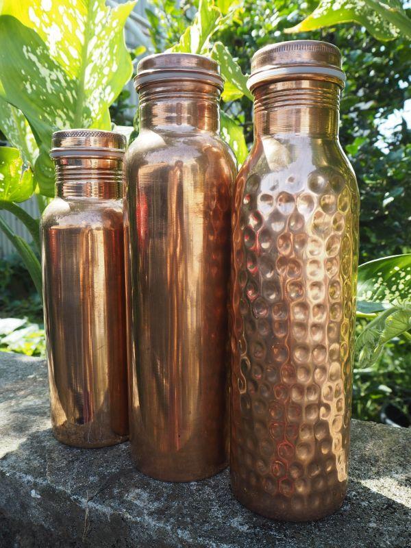画像1: 日々の健康に♪アーユルヴェーダ 銅製ボトル 抗菌抗ウィルス (1)