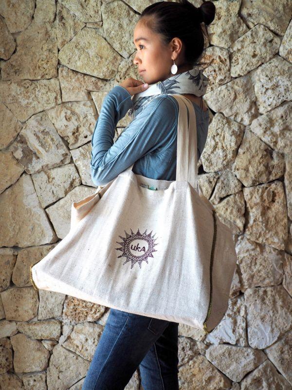 画像1: ukA オリジナル Big Eco bag  (1)