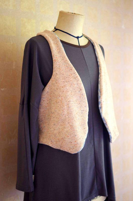 画像1: リバーシブルJOY vest  Sisso (1)