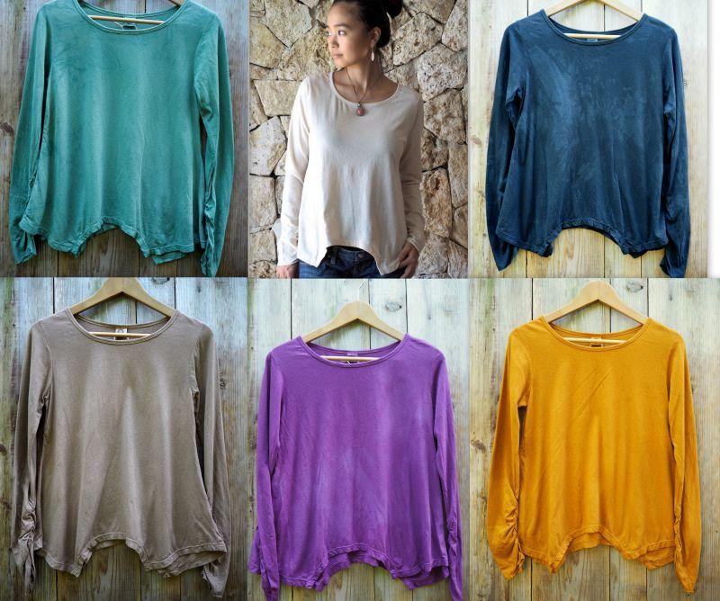 画像1: *エコ染カラーも入荷!Organic Cotton×Hemp  Original Long sleeves T-shirts 8カラー! (1)