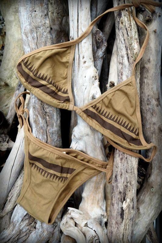 画像1: Sale 20% OFF!! 下着に最適!organic cotton ビキニセット 2サイズ Primitive tribal craft♪ (1)