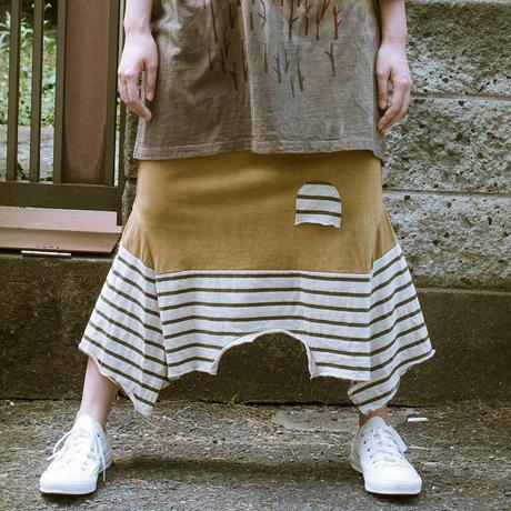 画像1: ヘンプコットン 草木染め Rebirth Tee Skirt 5color / Botanic Green  [直送アイテム] (1)