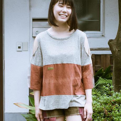 画像1: ヘンプコットン 草木染 Kata-aki T-shirt 2color / Botanic Green  [直送アイテム] (1)