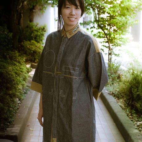 画像1: 草木染め Uniform Shirt  ユニセックス 2color/ Botanic Green  [直送アイテム] (1)