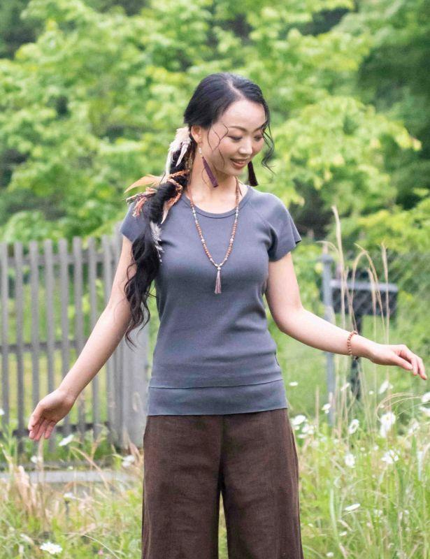 画像1: 上質コットンTシャツ 2カラー ukAオリジナル♪ (1)