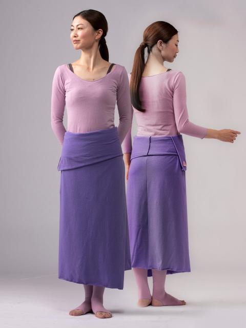 画像1: **オーガニックコットンヘンプ Aライン巻きスカート 2種類 スタンダード丈 / ロング丈 9カラー Lunati canapaー受注オーダー (1)