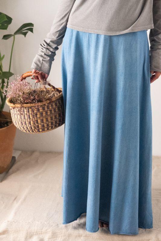 画像1: **エコ染も続々入荷!ukA hemp cotton Long SK  (1)