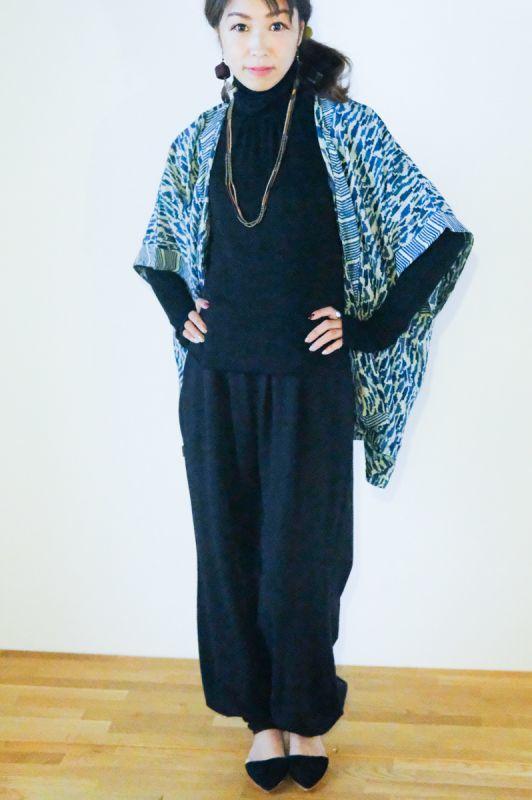 画像1: **SALE 10%OFF! 在庫わずか!アジュラック ブロックプリントkimono羽織り 9パターン NATSUMI-YA♪ (1)