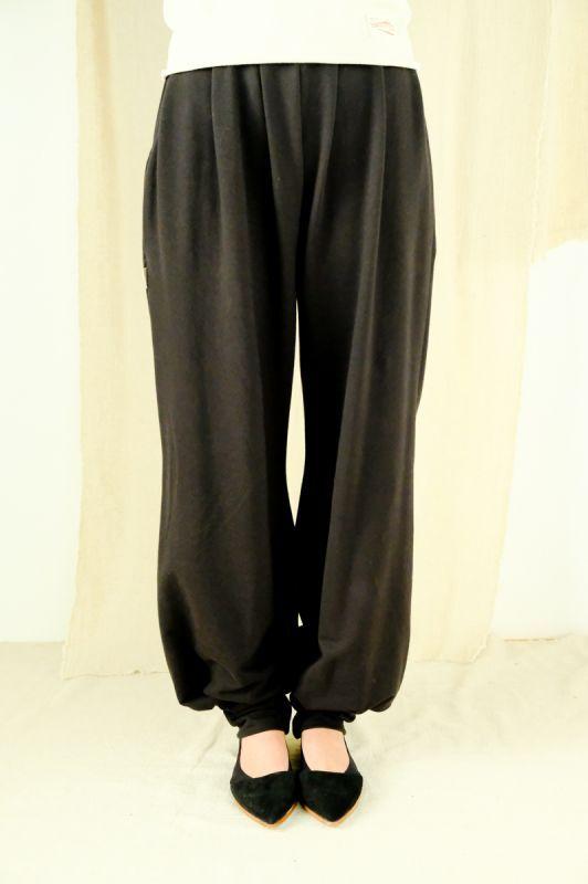 画像1: ブラック再入荷! オーガニックコットンYOGA Pants 4カラー 一部直送 〜Sisso〜 (1)