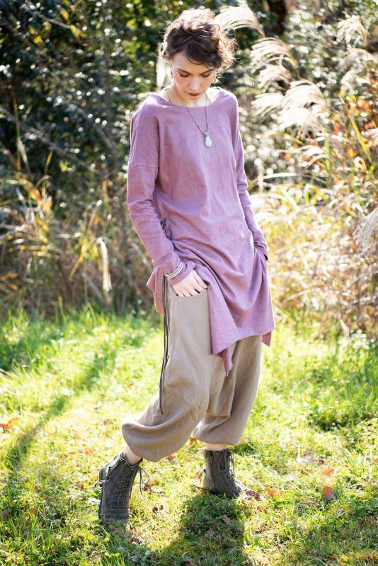 画像1: *ukA earth women Native pants - サルエルパンツ 3カラー (1)