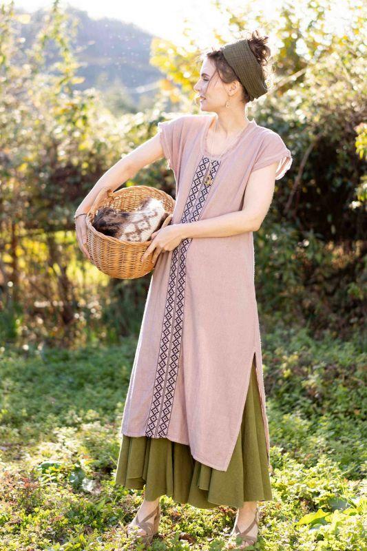 画像1: 再入荷!2021SS Cotton earth 刺繍 Dress 4カラー ~ukA earth~MANU★! (1)