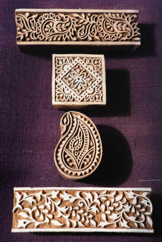 画像1: 入荷!ukA 木版はんこ スモール 全5種類 Wood Stamp 5Design (1)