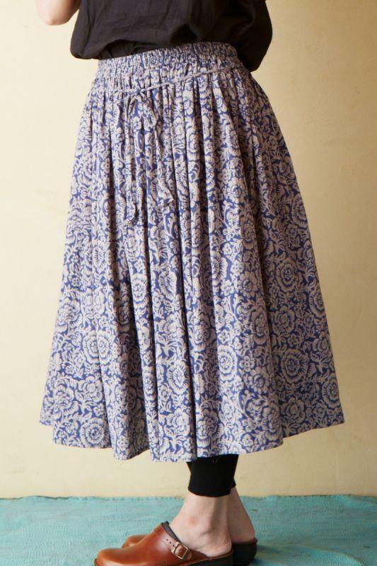 画像1: 草木染め ウエストリボンギャザースカート 4カラー Terra 【一部直送あり】 (1)