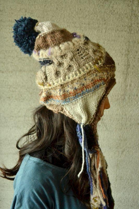 画像1: Twinkle Knitted hat ニット帽 4デザイン atari psychedelic knit works (1)