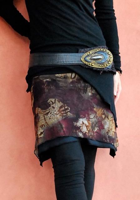 画像1: NOMAD ND/ W.Short Skirt (burgundy)【直送アイテム】 (1)