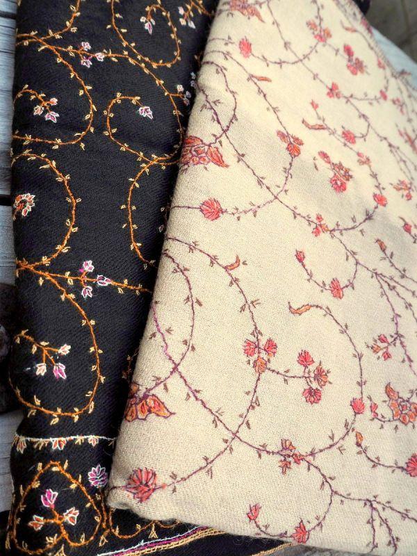 画像1: 値下げ!さらに20% OFF!!  カシミールショール ハンドメイド刺繍 cashmere scarfs embroidery Rainbow (1)